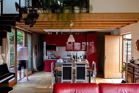 maison bois atelier limoges ladaa architectes pierre. Black Bedroom Furniture Sets. Home Design Ideas